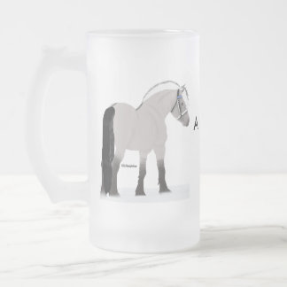 Fjords and Beer Frosted Glass Beer Mug