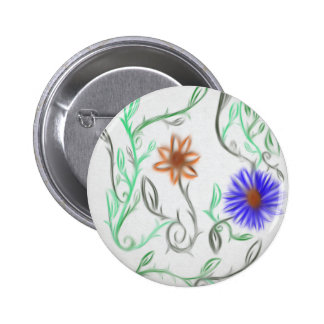 FL Gator flowers 2 Inch Round Button