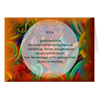 """""""fl O w"""" ~ blank art note card / poetry & painting"""