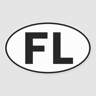 FL Oval Identity Sign Oval Sticker