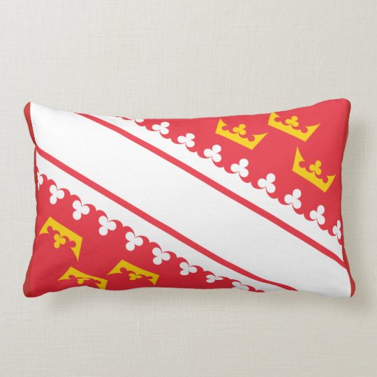 Flag Alsace (France) Drapeau Alsace Flagge Elsass Lumbar Pillow
