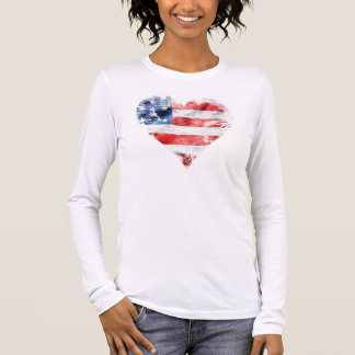 """Flag"" American Apparel Jersey Long Sleeve T-Shirt"