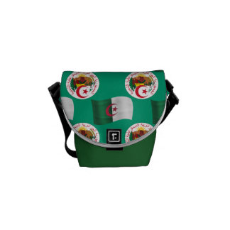 Flag and Crest of Algeria Courier Bag