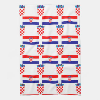 Flag and Crest of Croatia Kitchen Towel