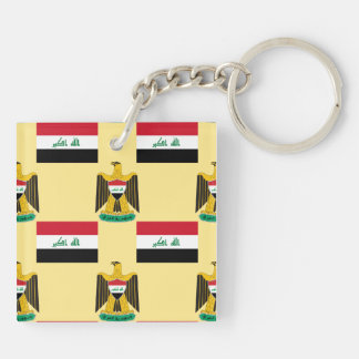 Flag and Crest of Iraq Keychain