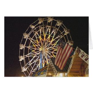 Flag and Ferris Wheel at the Fair Card