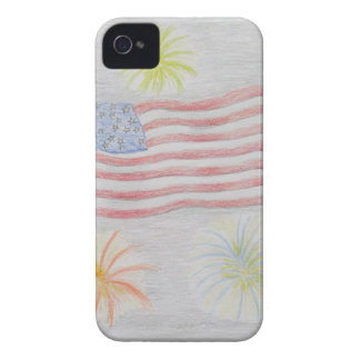 flag and fireworks iPhone 4 Case-Mate cases