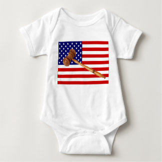 FLAG AND GAVEL BABY BODYSUIT