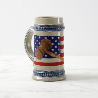FLAG AND GAVEL BEER STEIN