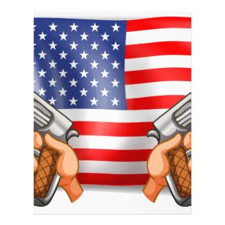 Flag and Guns Letterhead