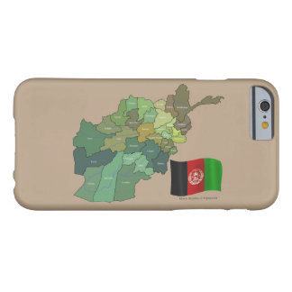Flag and Map of Afghanistan Barely There iPhone 6 Case