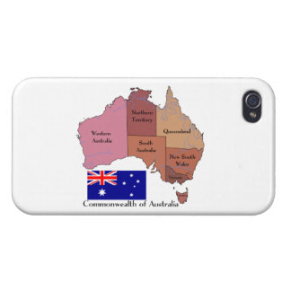 Flag and Map of Australia iPhone 4 Covers