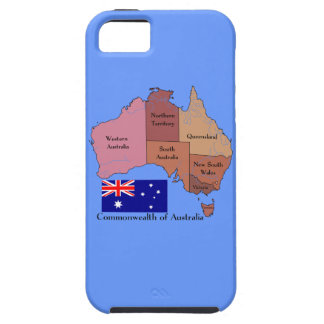 Flag and Map of Australia iPhone 5 Covers