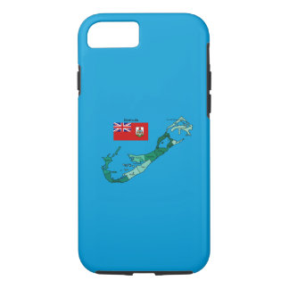 Flag and Map of Bermuda iPhone 8/7 Case
