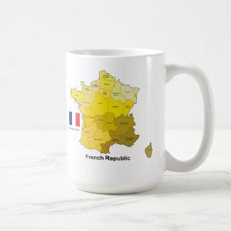 Flag and Map of France Coffee Mug