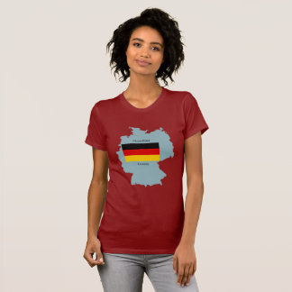 Flag and Map of Germany Shirt