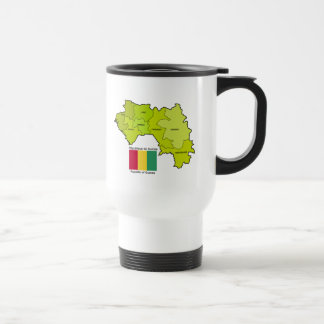 Flag and Map of Guinea Mug
