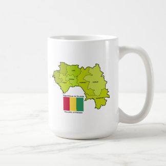 Flag and Map of Guinea Mugs