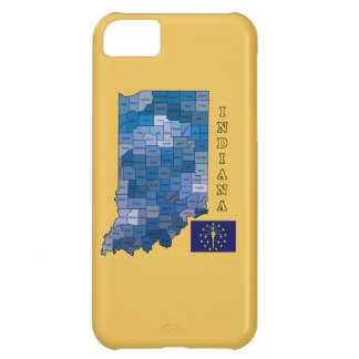 Flag and Map of Indiana Case For iPhone 5C
