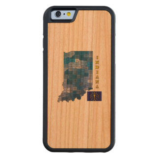 Flag and Map of Indiana Cherry iPhone 6 Bumper