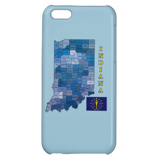 Flag and Map of Indiana iPhone 5C Covers
