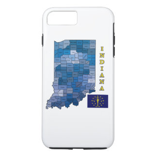 Flag and Map of Indiana iPhone 7 Plus Case