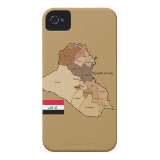Flag and Map of Iraq iPhone 4 Case-Mate Case
