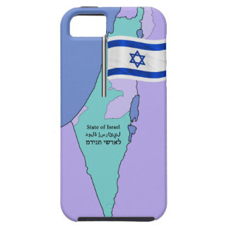 Flag and Map of Israel Case For The iPhone 5