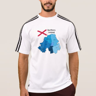 Flag and Map of Northern Ireland T-Shirt