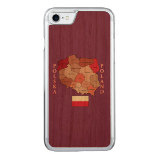 Flag and Map of Poland Carved iPhone 7 Case