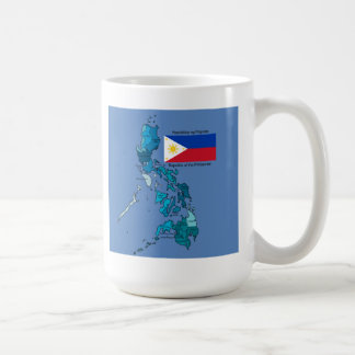 Flag and Map of the Philippines Coffee Mug