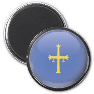 Flag and shield of Asturias Magnet