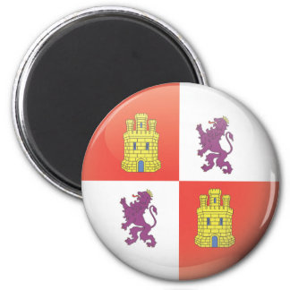 Flag and shield of Castilla and Leon Magnet