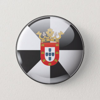 Flag and shield of Ceuta 2 Inch Round Button