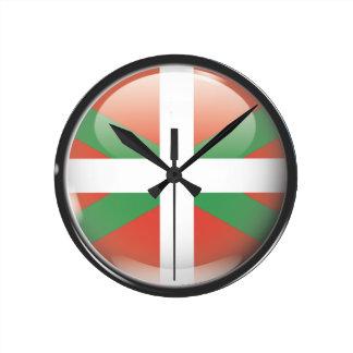 Flag and shield of Euskadi Wallclocks