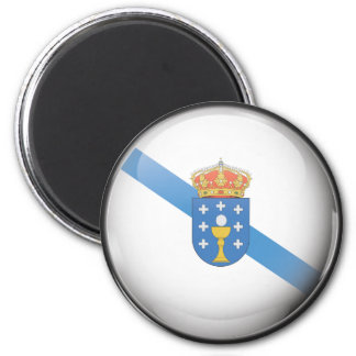 Flag and shield of Galicia Magnet