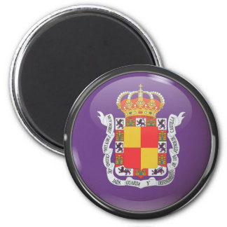 Flag and shield of Jaén Magnet