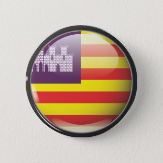 Flag and shield of the Balearic Islands 2 Inch Round Button