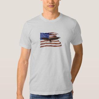 Flag and soaring eagle shirt