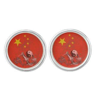 Flag and Symbols of China ID158 Cuff Links