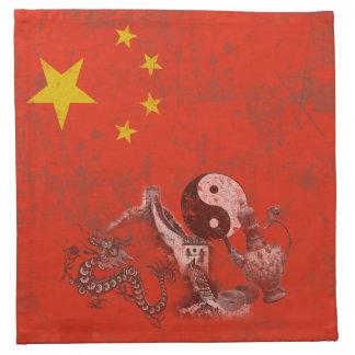 Flag and Symbols of China ID158 Napkin