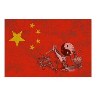 Flag and Symbols of China ID158 Poster
