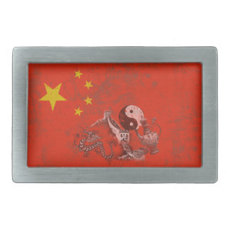 Flag and Symbols of China ID158 Rectangular Belt Buckles