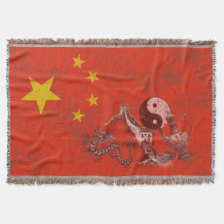 Flag and Symbols of China ID158 Throw Blanket
