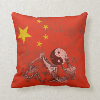 Flag and Symbols of China ID158 Throw Pillow