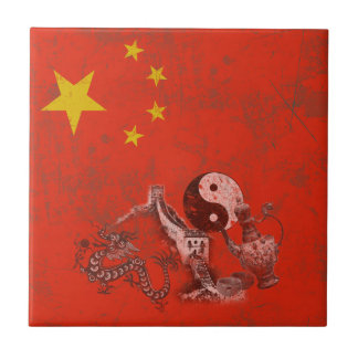 Flag and Symbols of China ID158 Tile