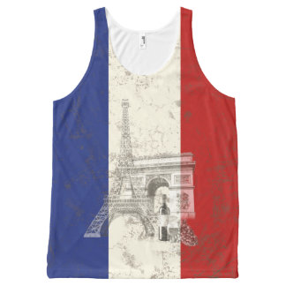 Flag and Symbols of France ID156 All-Over-Print Tank Top