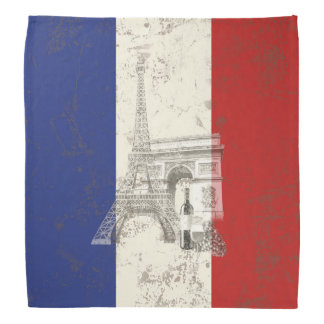 Flag and Symbols of France ID156 Bandana