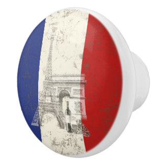 Flag and Symbols of France ID156 Ceramic Knob