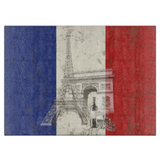 Flag and Symbols of France ID156 Cutting Board